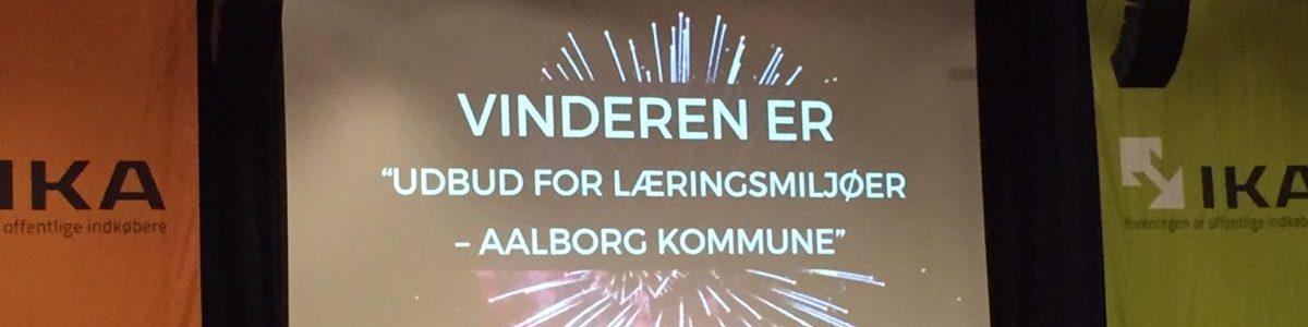 """Aalborg Kommune vinder prisen """"Danmarks Bedste Udbud"""""""